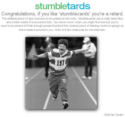 stumble cards are retarded